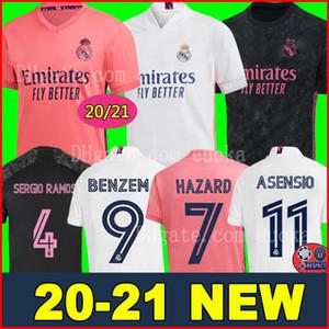 REAL MADRID maillots de football 20 21 HAZARD SERGIO RAMOS BENZEMA VINICIUS camiseta maillot de foot uniformes hommes + enfants enfant kits ensembles 2020 2021 de la soccer jerseys