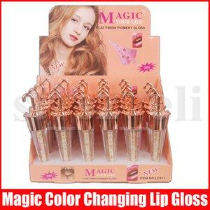 Umbrella shapes votre vie liquide Rouge à lèvres Modification de la couleur Shimmer Lipgloss Couleur Teinte bâton à lèvres brillant durable imperméable pigment lèvres Oll