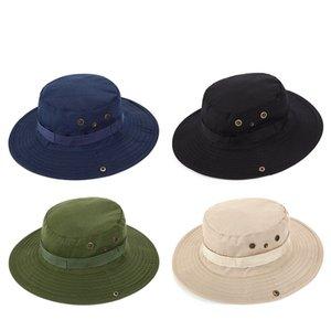Bump verano caliente del estilo de camping montañismo sombreros de protección solar al aire libre de la pesca sombrero del sol del sombrero de pescador T3I51135