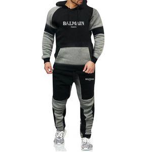 Il nuovo modo degli uomini s abbigliamento con cappuccio + pantaloni casual Imposta felpa Sportswear maschile cappotti Felpe inverno 2020 nuovo progettista Tuta Uomo