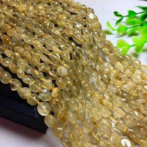 LE2VH Natural pelo de oro con la cadena larga pelo amarillo grava productos semi-acabados adecuados para DIY cristal Crystal DIY