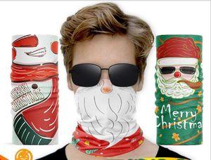 Chirstmas Hallowmas Face Shield Bandana Face Mask Outdoor Sports Bandana Mask Magic Headscarf Headband Neck Gaiter Christmas Decoration Gift