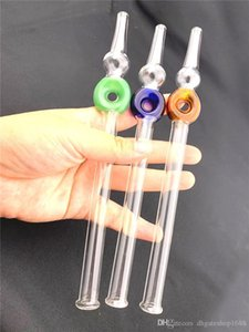 high quality 8inch honey dab straw Glass water pipes bong smoking pipe Dabs Oil Rigs hookahs glass oil burner pipe