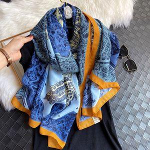 Women Scarf 2020 Design Print Cotton Hijab Scarves Lady Shawl Wrap Foulard Brand Horse Female Headband Stoles