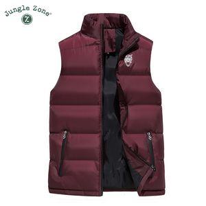 JUNGLE ZONE nuovo cotone sleeveless casuale maglia di inverno caldo degli uomini