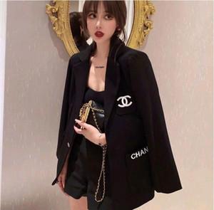 celebridad Web la misma chaqueta de traje de otoño nueva versión coreana de las mujeres de la manera suelta a la larga tendencia pequeña tapa del estilo fragancia