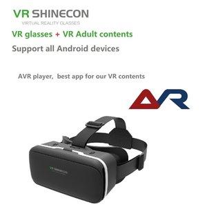 VR SHINECON BOX VR occhiali di realtà virtuale Occhiali auricolare Per Google cartone per smartphone con un anno i film xxx LJ200919