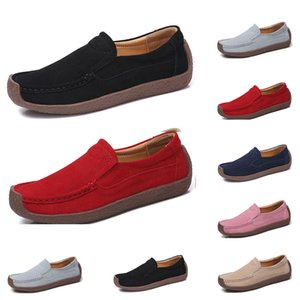 Hot sale-New Fashion 35-42 Eur new women's leather shoes Candy colors overshoes British casual shoes free shipping Espadrilles