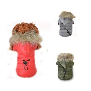 Capa del perro caliente otoño invierno mascotas Hoodies Ropa de perrito del gato por la chaqueta Animales Disfraces para perros pequeños peluche Chihuahua DOGGYZSTYLE