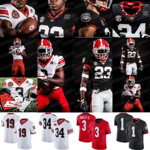 1 George Pickens 2020 Georgia Bulldogs 40th 1980 Herschel Walker Gurley II Bennett Jt Daniels James Cook NCAA College Jersey di calcio