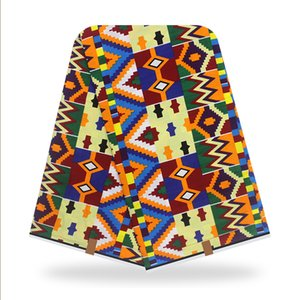 New Fashion Ankara African 100% Cotton Wax Prints Fabric Real Superior Quality Soft Wax 6 Yards for Party Dress TN200908