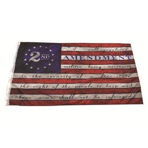 2 تعديل خمر العلم الاميركي في الهواء الطلق راية العلم 90CM * 150CM البوليستر مخصص USA الكلية لكرة السلة أعلام CYZ2769