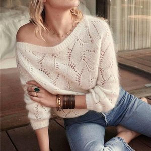 Mohair bianco Chic KHALEE Yose Pullover Autunno 2020