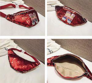 New Kids Waist Bags Girls Sequins Crossbody Chest Pack Designers Letter Messenger Bag Baby Mini Shoulder Bag Duffle Purse Fanny Pack LY916