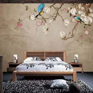 Diantu Custom Photo Wallpaper Mural Flower Bird Magnolia Living Room TV Background Wall Painting Papel De Par