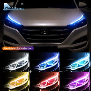 LED DRL Headlight Strip Daytime Running Lights Turn Signal Lamp for Focus 2 3 2 Mustang Ranger Fusion Fiesta Accessories