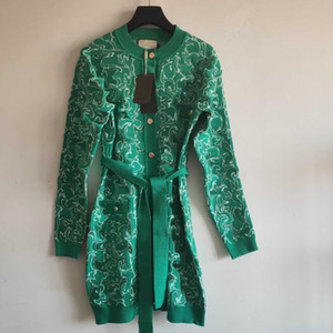 Womens clássico Knit Cardigan Ladys longo Sweaters Mulheres Carta Casual Imprimir Long Vestuário Camisola 2020 Novo Estilo Moda Primavera Outono