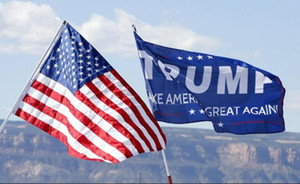 US Trump Flag 12 styles Decor Banner Trump Flag Hanging 90*150cm Trump Keep America Great Banners Digital Print Donald