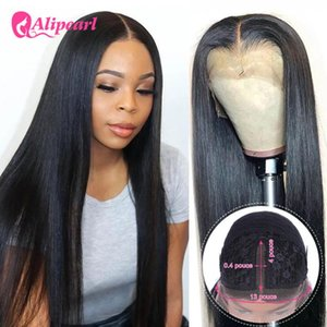 Lace Wigs AliPearl Hair Part Peruvian Straight Human Wig Pre Plucked For Black Woman 150% 180% Density Ali Pearl