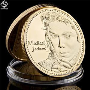 Michael Jackson banhado a ouro Coin metal comemorativa The King Of Pop Música Estrelas Coleção Lot Coin