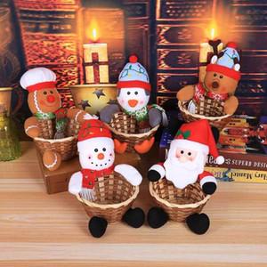 25 # Frohe Weihnachten Süßigkeit-Speicher-Korb Dekoration Weihnachtsmann-Speicher-Korb Happy Christmas Day Tischdekoration Süßigkeit