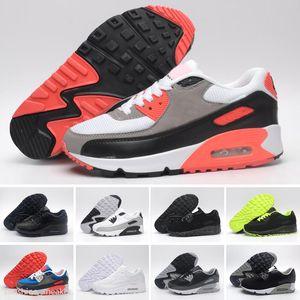 Cheap 90 Running Shoes Men Women Triple Black White Camo Infrared London USA 90s Mens Sports Sneakers Size 36-45