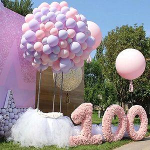 20pcs de 10 pulgadas cadena Macaron Látex Globos Accesorios Ballon Ballon globo de plástico se pega para la boda del cumpleaños decoración del partido