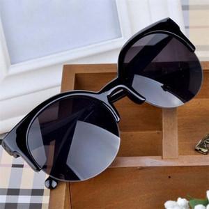 Солнцезащитные очки Feminino 2021 Мода Ретро Дизайнер Супер Круглый круг Очки Cat Eye Женщины Очки Очки
