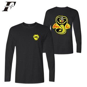 LUCKYFRIDAYF Fashion Cobra Kai Anime Hot Sale Imprimer Hommes T-shirt à manches longues Belle populaire Réchauffez Mode Automne X0923