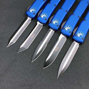 Çift UTX Mavi Eylem Havacılık Alüminyum Bıçak Bıçak Otomatik 85 Edc Bıçaklar Kol CNC Oto Mt Sıcak Taktik sqlT zlhome