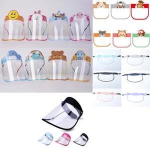 Bambini faccia parte mascherina maschera anti protezione integrale bambini Chindren faccia sheild polvere saliva cappuccio trasparente head-mounted FY8109 cappuccio rimovibile
