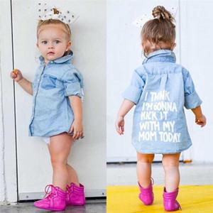 New Toddler Baby Girl Autumn Clothes Denim Tops Long Sleeve Pockets Long Warm Coats Jackets Kids Fashion Outwear Steetwear 2-7Y