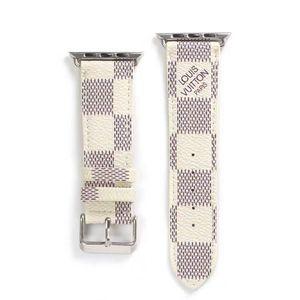 애플 시계 밴드 (38) 40mm의 iwatch에 대한 최고 브랜드 가죽 시계 줄 1 개 2 3 밴드 가죽 스트랩 팔찌 패션 줄무늬 A23 A01