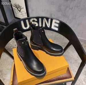 Zapatos para mujer de diseño de moda de lujo botas de Martin botas de plataforma marcas Botas de trabajo Bota de la nieve Señora Beaubourg tobillo botas de invierno grande del tamaño 35-42