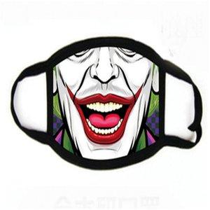 1 1pcs PM2,5 Anime Cartoon Cotton antipoussière Lack Masque Homme Femme Nigt Phosphorescent Masques noir Mout Impression Alf moufles Fa Mask # 342