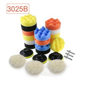 25pcs Soft Replaceable Sponge Wheel Anti Scratch Auto With Drill Adapter Buffer Pads Set Accessories Waxing Tool Car Polishing