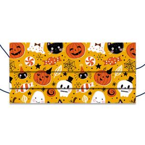 Хэллоуин Детская Одноразовая маска Ткань 3 аэродинамическим способом из расплава слоя маска для лица Одноразовые персонализированных печати дышащий маска GWA1586