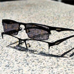 neue Transition Sun Photochromic Lese Glasse Männer einstellbar Vision Mit Multifocal Dioptrien Progressive glasse FML