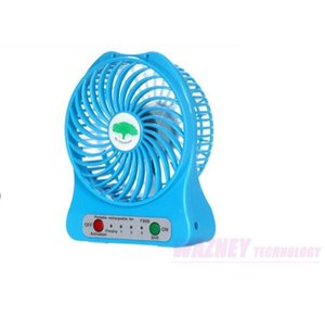 20pcs set micro USB fashion mini Fan Electric Personal Fans LED Portable Rechargeable Desktop Battery Cooling Operated