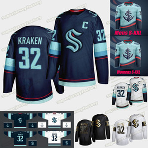 Сиэтл Крукен 2021 Хоккей Джерси 32-й Новая команда Custom Домашняя дорога Джерси Любой Nunber Любая Имя Мужчины Женщины Молодежь S-XXXL