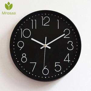 Nueva Moda Ronda de relojes de pared de época moderna de Plasitc relojes de cuarzo Reloj WATHCES Inicio dormitorios salas de estar pared de la cocina moderna 4OCF grande #