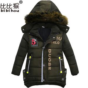 Bibihou nuevos muchachos Parka SNOWSUIT chaquetas frío de niños ropa de los muchachos de los niños del bebé de algodón gruesa abajo chaqueta de la capa fría de invierno Outwear Y200831
