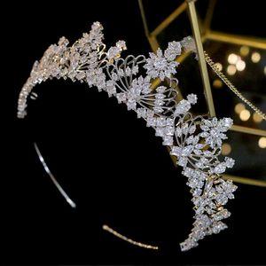 ASNORA фианиты Обручальных Шоу оголовье CZ Люкс Королева принцесса Parade Корона партия невеста