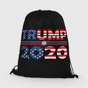Donald Trump 2020 Drawstring Bag Kids Backpack Shoulder Bags Storage Totes Large Purses Wallets Fashion Printing Sports Packs Bags D91704