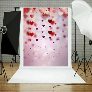 0,9 * 1.5m Love Heart Photographie fond de studio, tissu accessoires Studio Photo Backdrop Décoration Photo Backgrounds