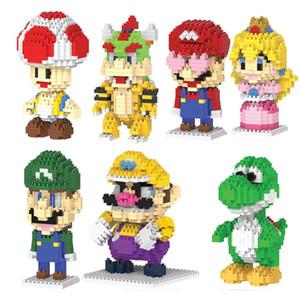 Roelcutestewart Luigi Pricness Magic Blocks bambini Diy costruzione del nuovo fumetto Mini Man Toysspecial piccolo Mario 2017 qylLZy mywjqq