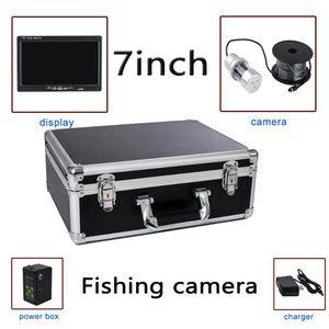 7 '' 1000TVL 12 IR HD y 24 luces blancas bajo el agua cámara de la pesca / sistema de monitor con caja portátil de video grabación de la ayuda F08