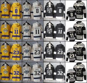 Los Angeles Kings Hockey Мужчины Джерси 8 Дрю Даути 11 Копитар 23 Дастин коричневый 32 Джонатан Куик Хоккейной Hoodie с капюшоном Джерси