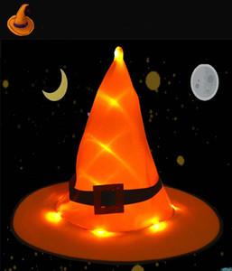 2020 designer di cappelli cappelli di Halloween incandescente Witch Hat ornamenti vacanza promenade del partito di cappello da mago di Natale Cappelli Adult Light Festival
