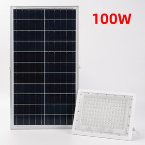 Luxury White Led Solar FloodLight Remote Controll Waterproof Garden Lamp Outside Security Lighting